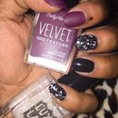 Velvet and Lace Nails