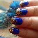 Blue & gold nailwear :)