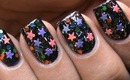 Star Nail Art Designs - Latest How to Do Colorful Sequins Nail Polish Tutorial DIY Easy Video