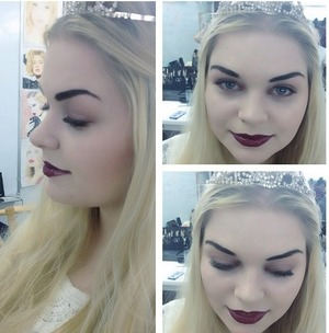 Alice In Wonderland's White Queen makeup I did on Siggy. www.sarahblissmakeup.com