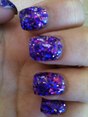 Beautiful, fun acrylic nails. Perfect for those girls who don't like to be plain (: