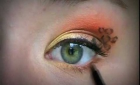 Leopard Print Eye Makeup!