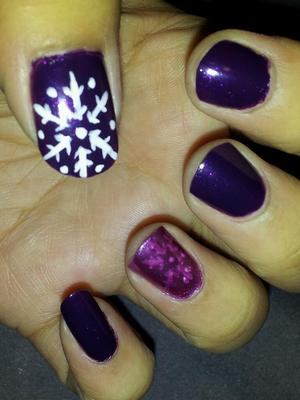Winter Inspired Nails :) Jan 2012