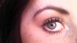 chanel mascara, wet n wild eyeshadow, milani eyebrow kit, Revlon eyeliner.