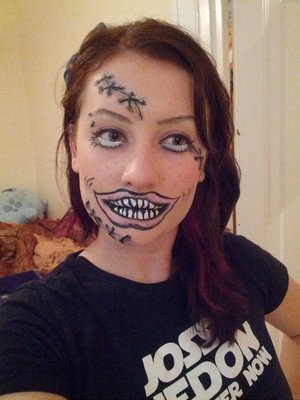 Same look, I just decided to make the mouth a bit more ghoulish.