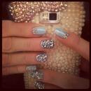 Blue sparkles & Leopard print