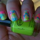 Neon Splatter Mani