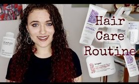 Color Treated Curly Hair Routine Ft  Olaplex, Briogeo, and DevaCurl (withcaptions) || Such A Claire