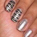 Silver Zebra Nails