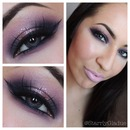 Purple smokey eye