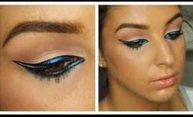 Graphic Purple & Blue Liner Tutorial + Touch In Sol Giveaway Winner! ♥