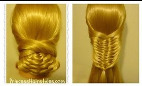 Layered Woven Braid Hair Tutorial & Updo