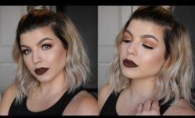 Warm Gold Eyes & Chocolate Lips - Fall Makeup Tutorial 2016