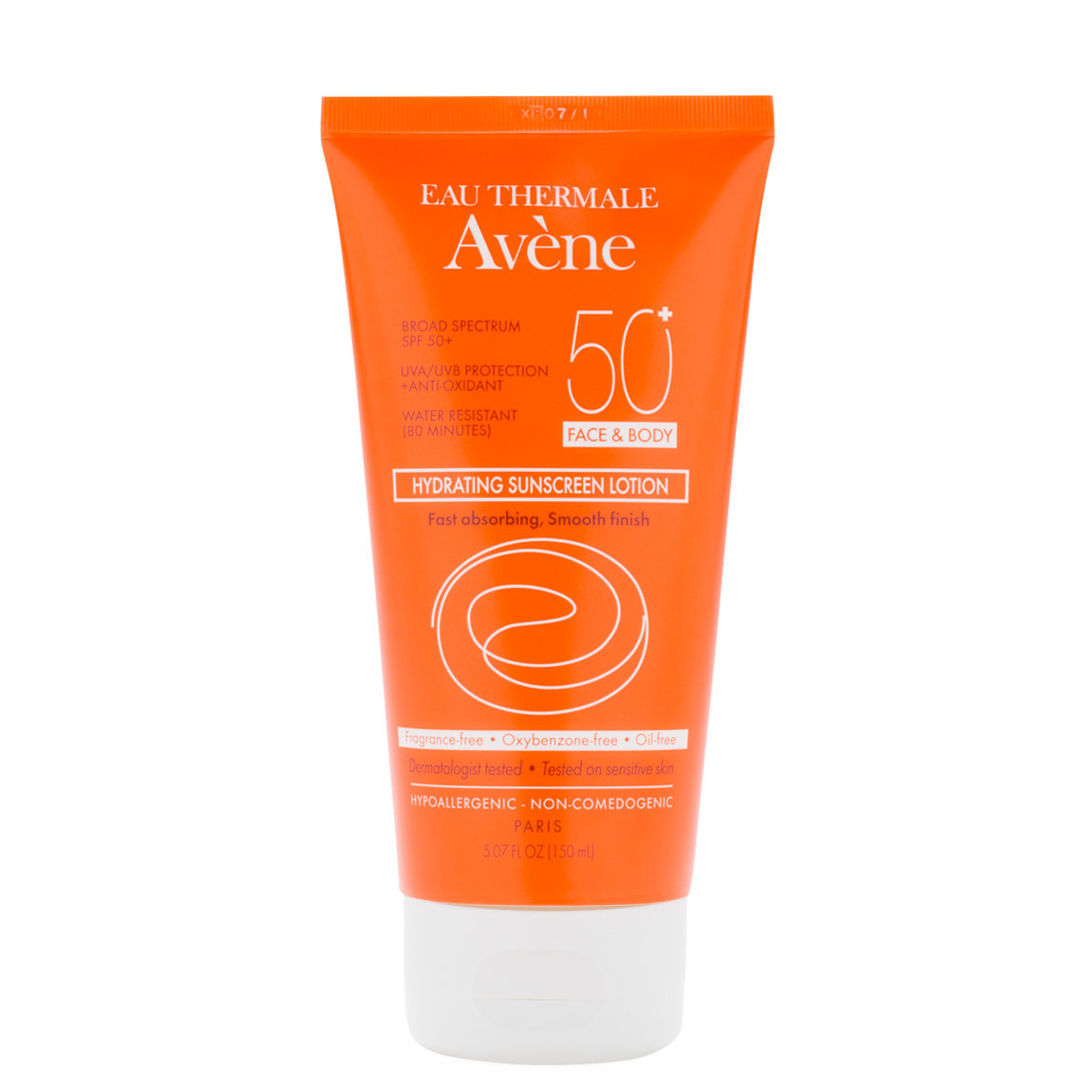 Eau Thermale Avène Hydrating Sunscreen Lotion SPF 50+ product swatch.
