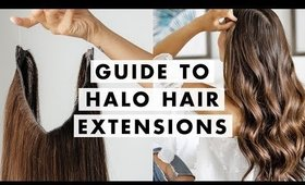 How to Wear Halo Hair Extensions   Luxy Hair