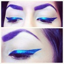 Metallic Blue Cat Eye