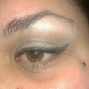 Eyeshadow Applied As Liner With Wet Brush
