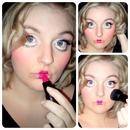 Porcelain doll makeup :)