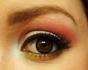white, purple n pink open eye