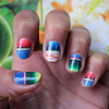 Mexican Blanket Nail Art Decals