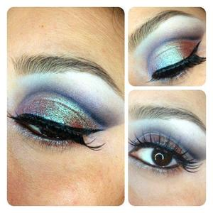 A fun twist on a cut crease smokey eye :)