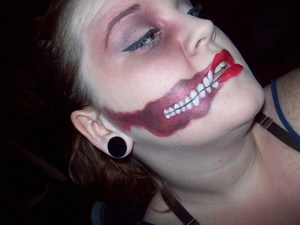 Done entirely with the BH cosmetics 120 palette and some white halloween face paint and black liquid liner.