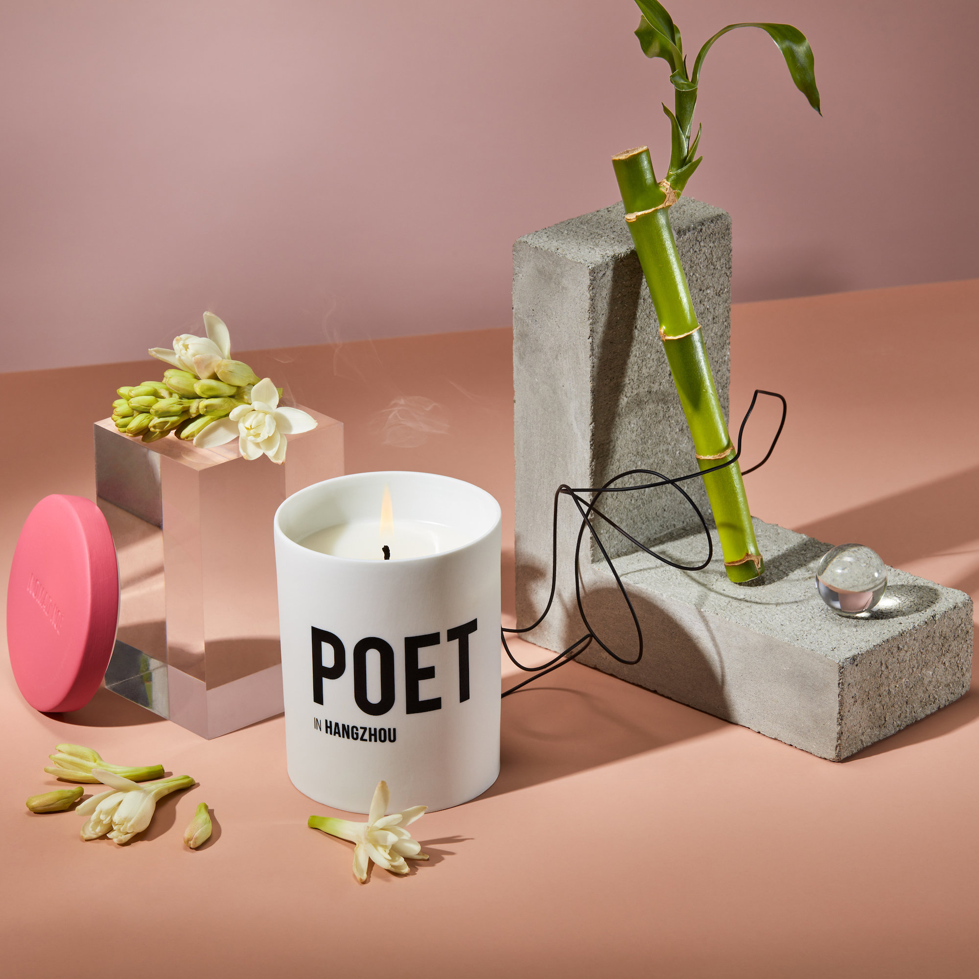Alternate product image for Poet In Hangzhou - Bamboo & Tuberose Candle shown with the description.