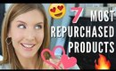 Top 7 MOST REPURCHASED Beauty Products | Collab with Annep