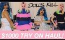 HUGE $1000 DOLLS KILL TRY ON HAUL w/ AUTUMN | sample sale