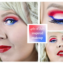 4th of July inspired makeup