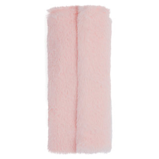 Faux Fur Brush Roll Blush