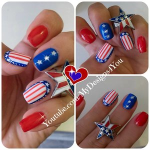 4th of July Nail Art | Independence Day Nails