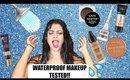 WATERPROOF MAKEUP TESTED! | Drugstore vs. High End Makeup