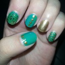 gold and green