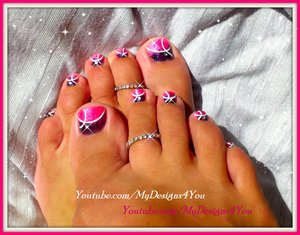 EASY PINK GLITTER TOENAIL ART DESIGN. https://www.youtube.com/watch?v=bjJdr498Wjc