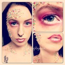 sprinkles makeup look