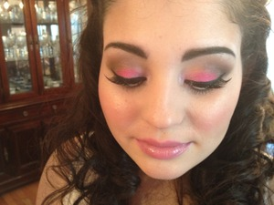 She wanted to look just like a princess with pink make up to match her silver and pink dress! She loved the look so much she told me everyone called her the Princess at the Prom!