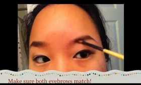 How I Fill In My Eyebrows