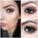 Green smokey eye 🌿