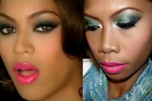 "Beyonce ""Green Holiday"" Inspired Makeup"
