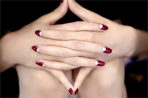Half moon nails.