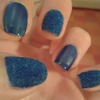 Blue velvet sweater nails