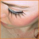 orange is one of my next big thing. plus adorable false lashes.