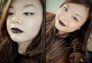 This was actually a test of MAC lipstick in Cyber.  As you can see from the photo...yikes that is not opaque lol.