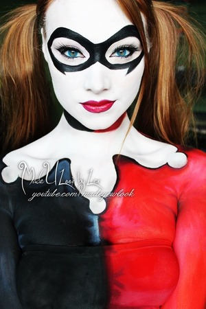 Done with body paint :) See the tutorial on youtube soon! www.youtube.com/madeyewlook, www.facebook.com/madeulookbylex