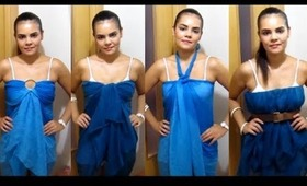 DIY: HOW TO MAKE A DRESS WITH SCARFS!