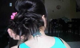 Updo with a twist