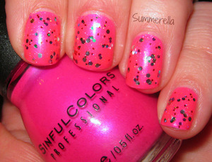 Sinful Colors Bikini, Wet N Wild Party of Five Glitters and inm northern lights top coat