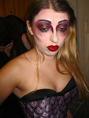 Rocky Horror Picture Show event makeup. Largely influenced by Illamasqua's Theatre of the Nameless collection.