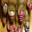 tiger nails by SauceC Nailz